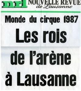 Nouvelle Revue de Lausanne | 1987